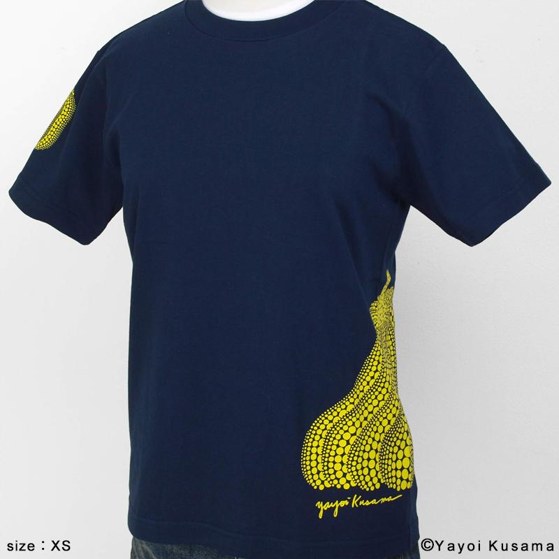 草間彌生  Tシャツ [かぼちゃサイドプリント(紺)]