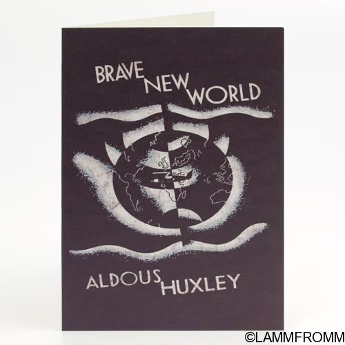 "Out of Print グリーティングカード [オルダス・ハクスリー ""すばらしい新世界""]"