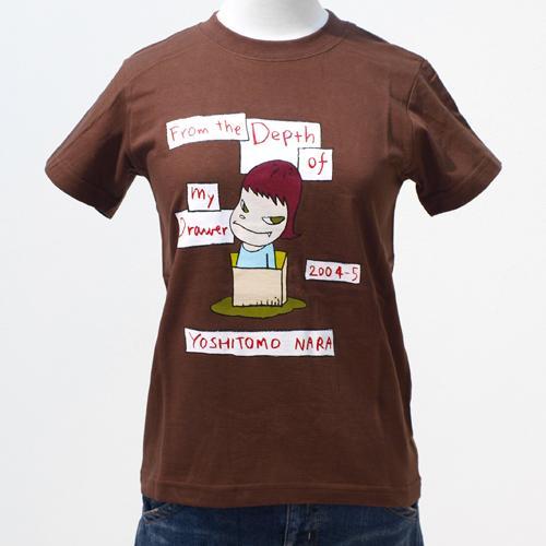 【デッドストック】奈良美智 Tシャツ [From the Depth of My Drawer(ブラウン)]