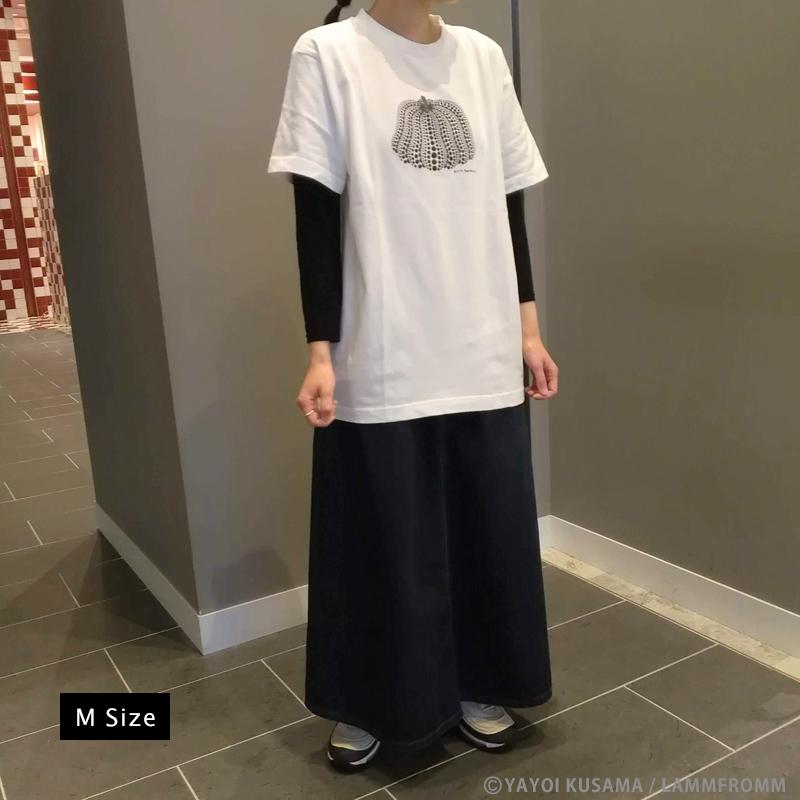 草間彌生  Tシャツ [かぼちゃ(ホワイトx黒)]
