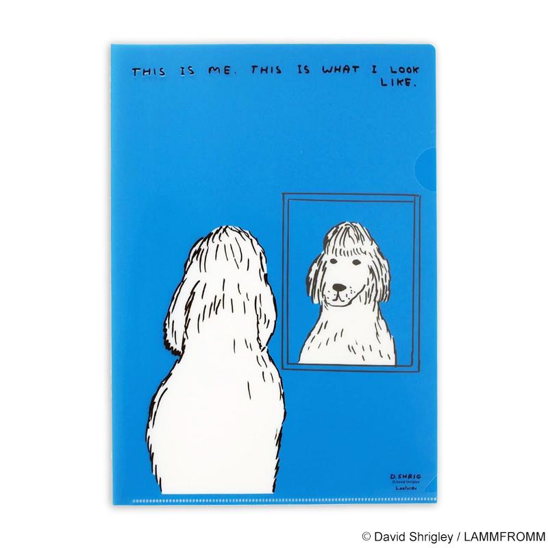 デイヴィッド・シュリグリー A4クリアファイル(ブルー)