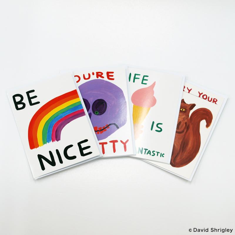 デイヴィッド・シュリグリー グリーティングカード [ Life Is Fantastic Puffy Sticker Card ]