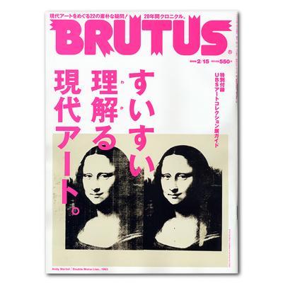 雑誌 [BRUTUS 2/15号:すいすい理解る現代アート]