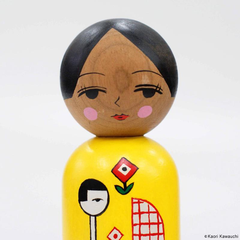 河内かおり こけし 作品 [untitled(MG-5)]
