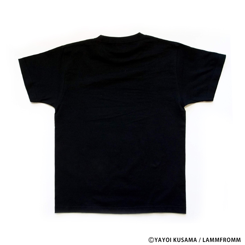 草間彌生  Tシャツ [かぼちゃ(ブラックx金)]