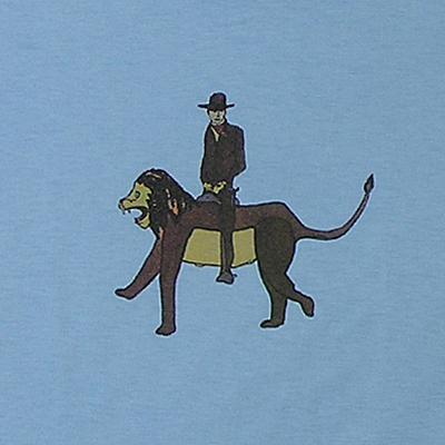 マルセル・ザマ 子供用Tシャツ[MAN ON LION]