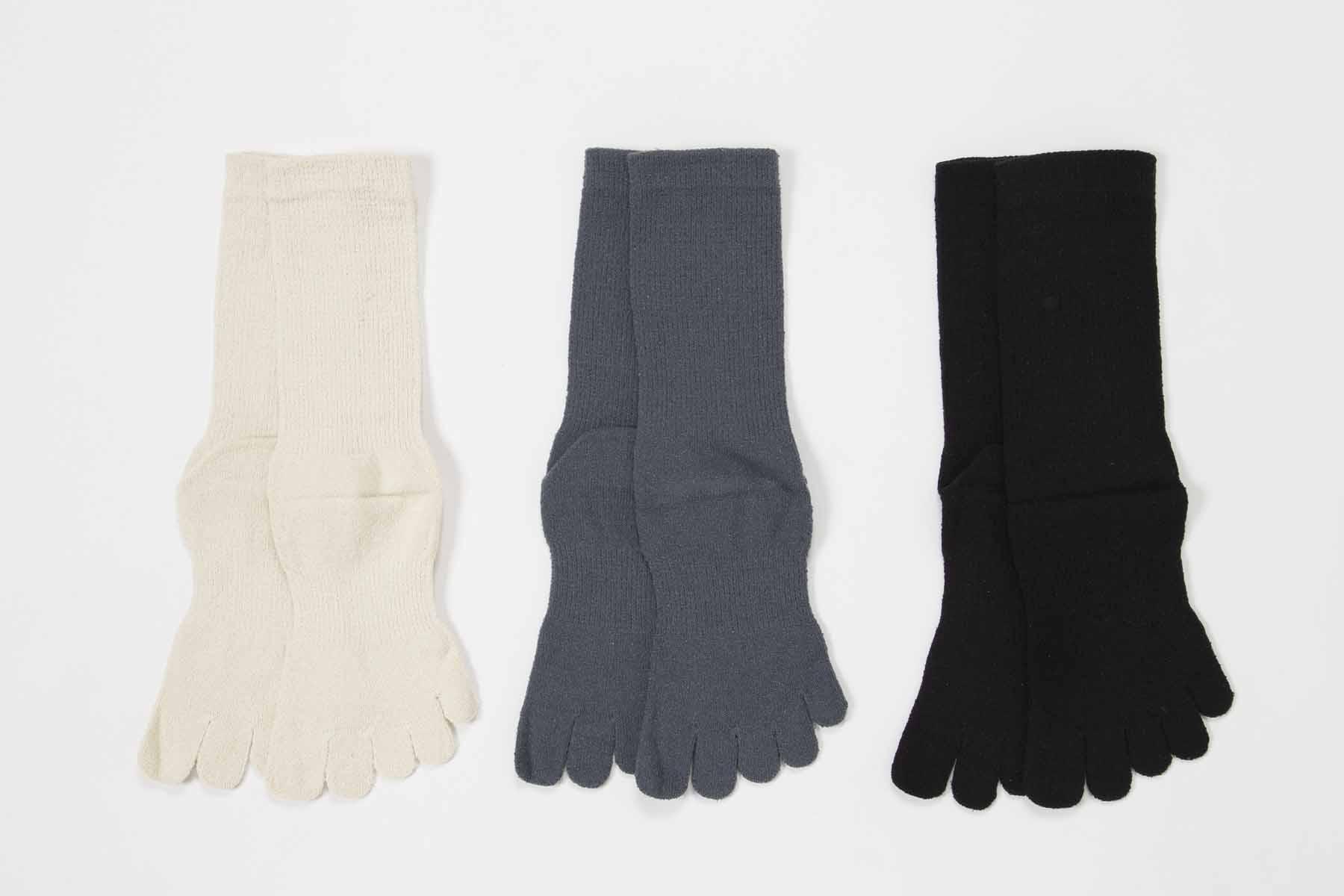 5本指ソックス シルク紬糸M(24-26cm)【8450】