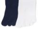 5本指ソックス ベーシックKIDSキッズハイソックス 白・紺(16-18、19-21)cm【6060】(スクールソックス対応