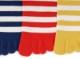 5本指ソックス(5本指靴下)ボーダーKIDSキッズ(16-18cm、19-21cm)【6090】