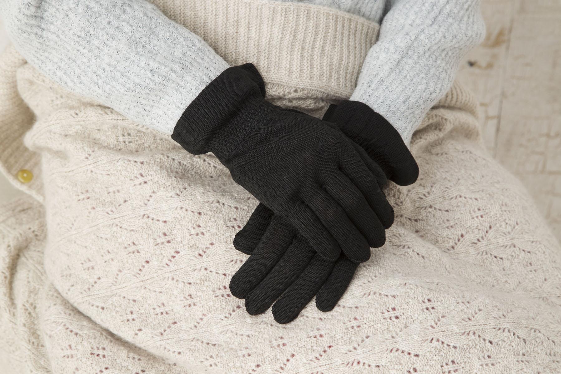 シルクおやすみ用手袋(婦人用)【8360】