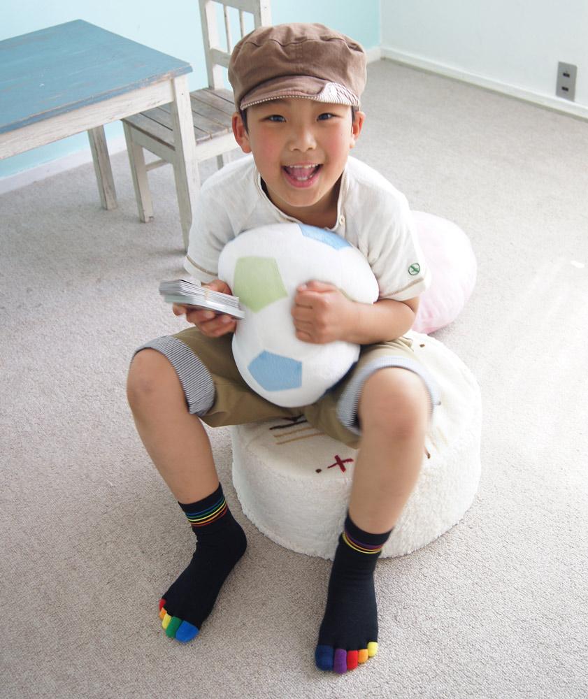 5本指ソックス(5本指靴下)虹KIDSキッズ【6130】(16-18cm)(19-21cm)