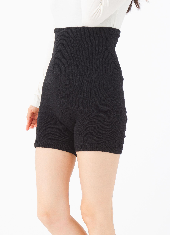 【9503】無縫製 お尻立体3次元シルクはらまきパンツ(3分丈)(婦人フリー)ネコポス不可