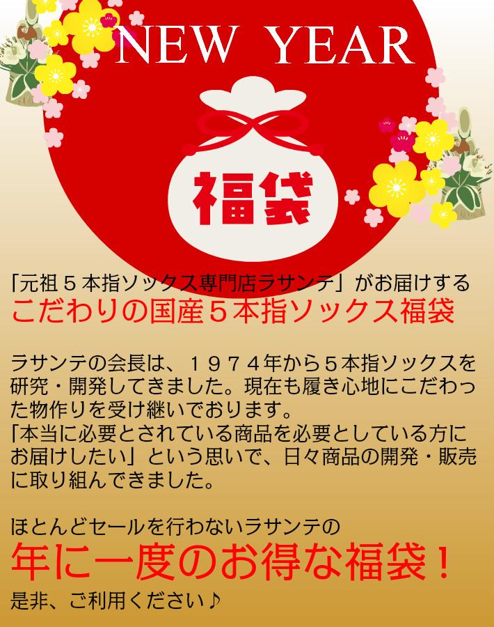 福袋 ◎ 20足組 50%OFF 送料無料 ◎ LASANTE S(22-24cm) 一年に一度のラサンテのお得な福袋 日本製 5本指ソックス