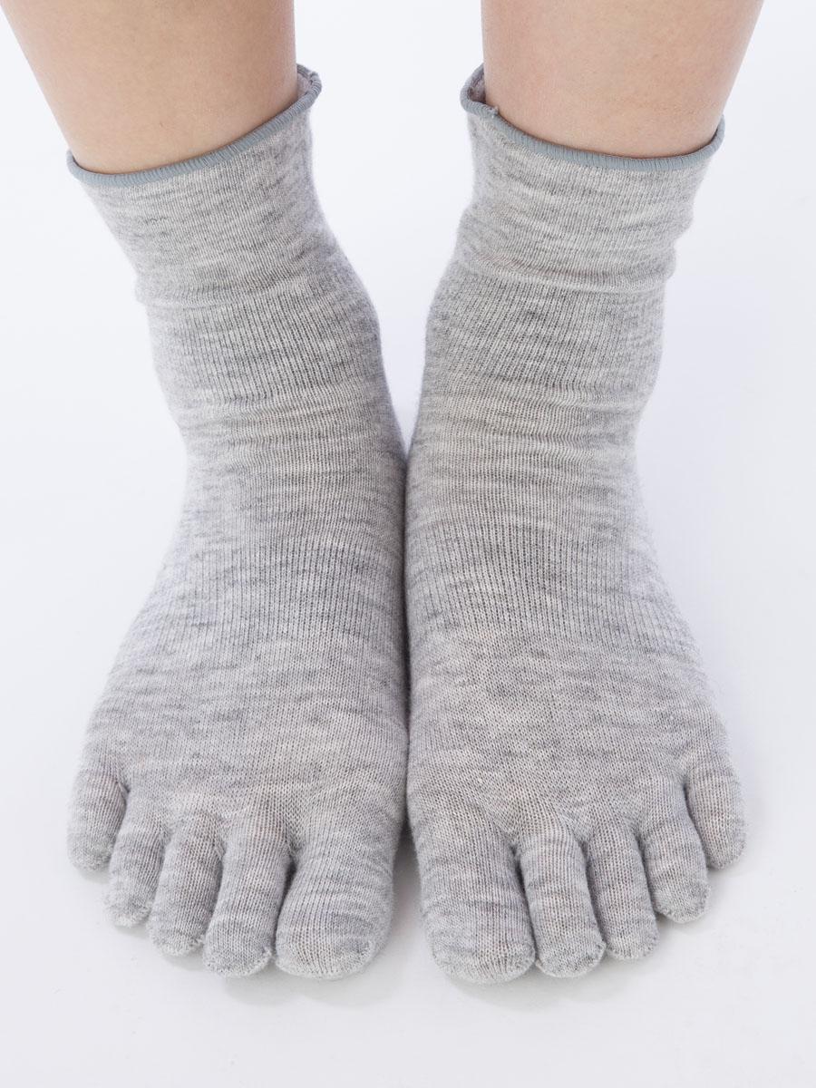 【3220】マーブルはき口ゆったり5本指ソックス(5本指靴下)S(22-24cm)