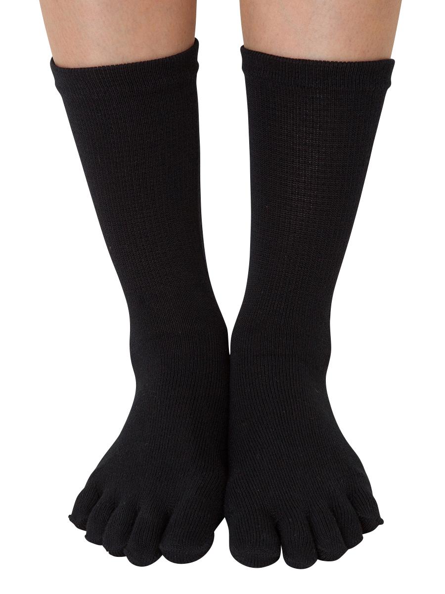 【6010】ベーシック《スクール》M(24-26cm)・L(26-28cm) 5本指ソックス(五本指靴下)