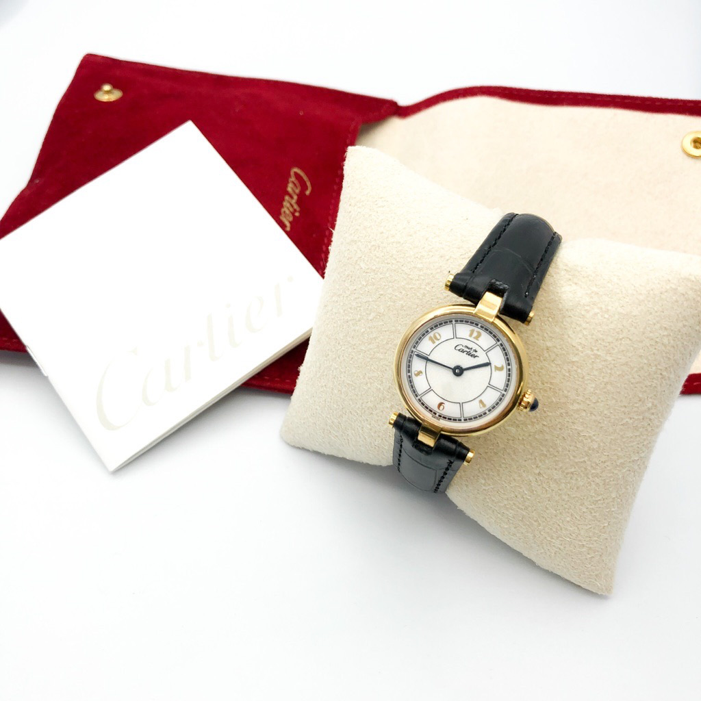 CARTIER / ヴァンドーム 飛びアラビア文字盤 SM ゴールド