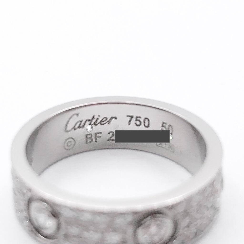 CARTIER / ラブリング 10号 WG フルパヴェ&6Pビス ダイヤ