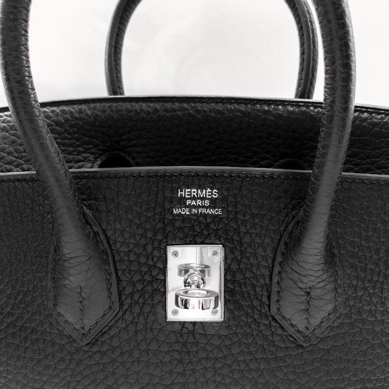 HERMES / バーキン25 ブラック シルバー金具