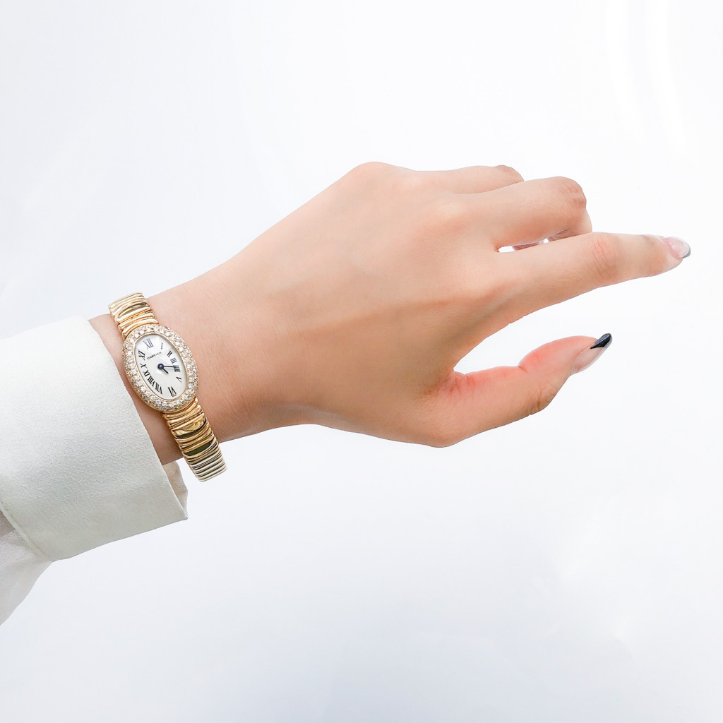CARTIER / ミニベニュワール K18 YG ブレス ダイヤ