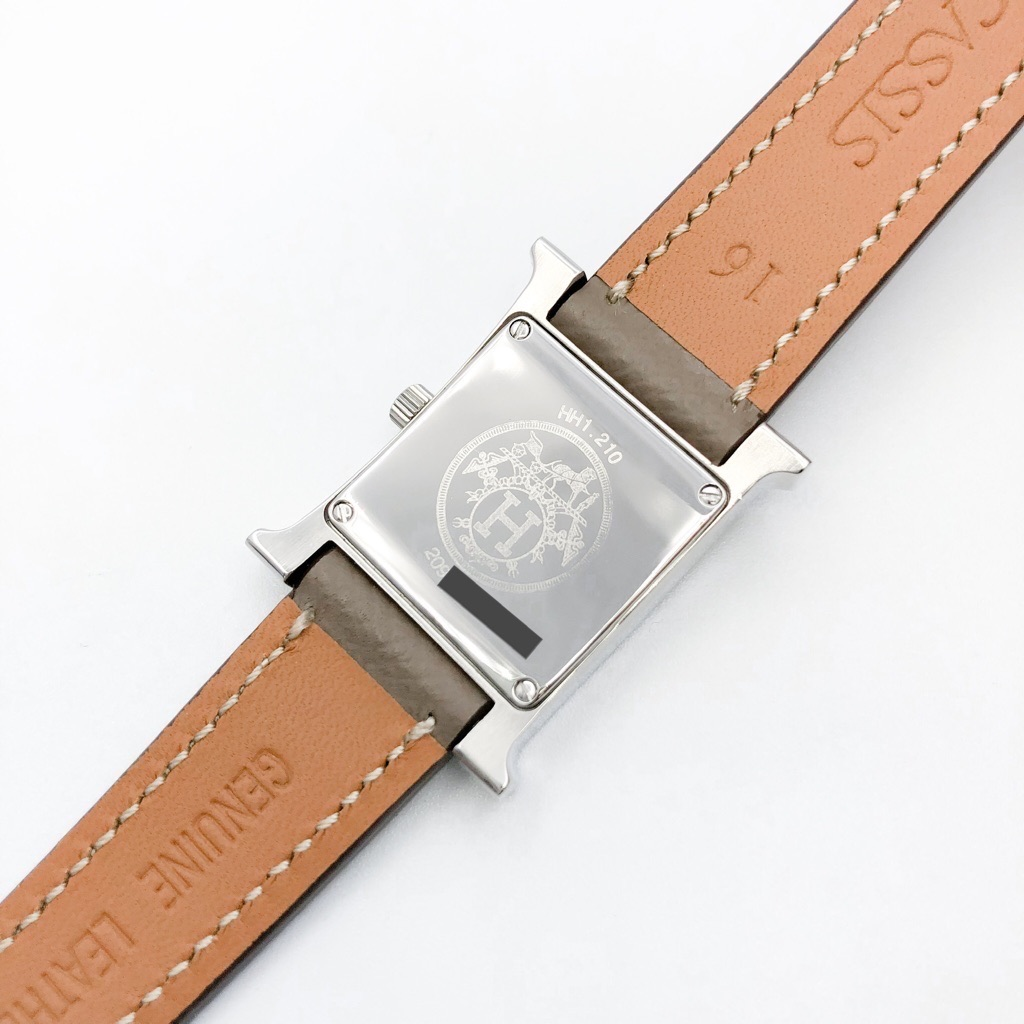 HERMES / Hウォッチ 白文字盤 シルバー ダイヤ