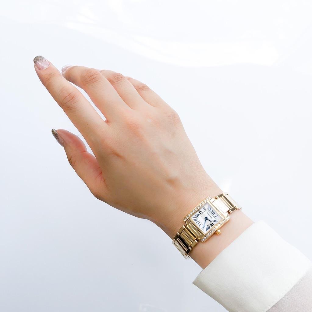 CARTIER / タンクフランセーズ K18 YG 純正ダイヤ
