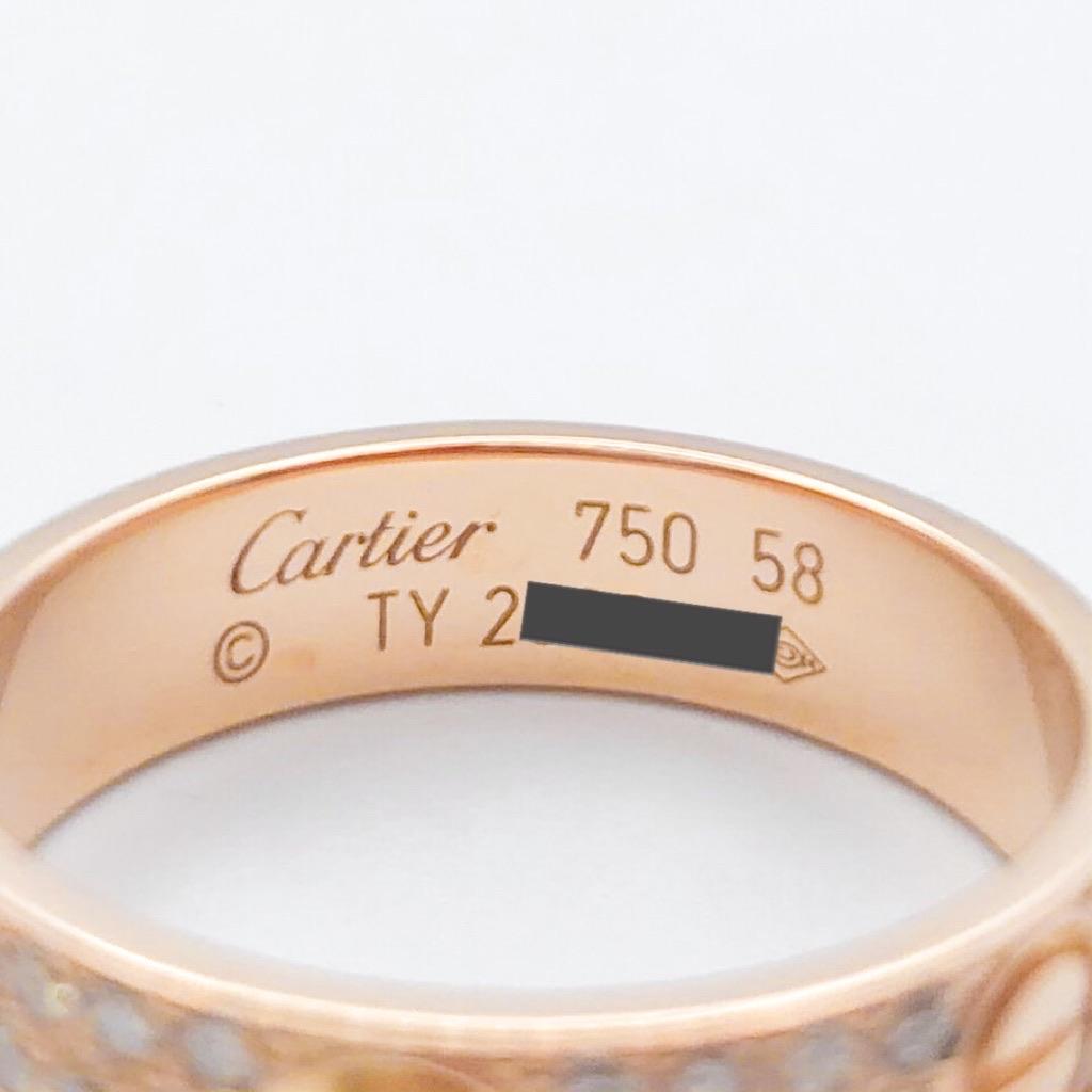 CARTIER / ラブリング 18号 PG ダイヤ