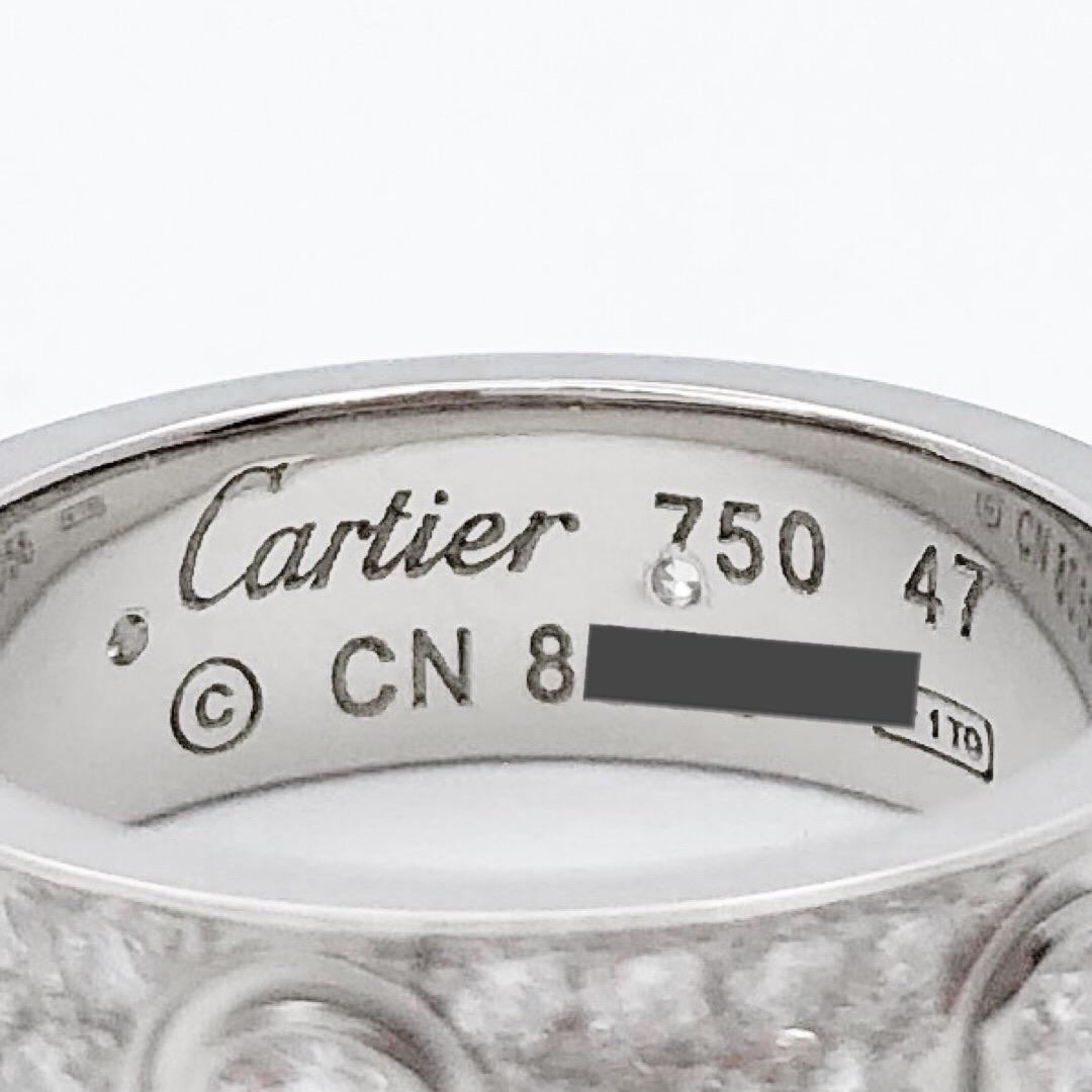 CARTIER / ラブリング 7号 WG フルパヴェ&6Pビス ダイヤ