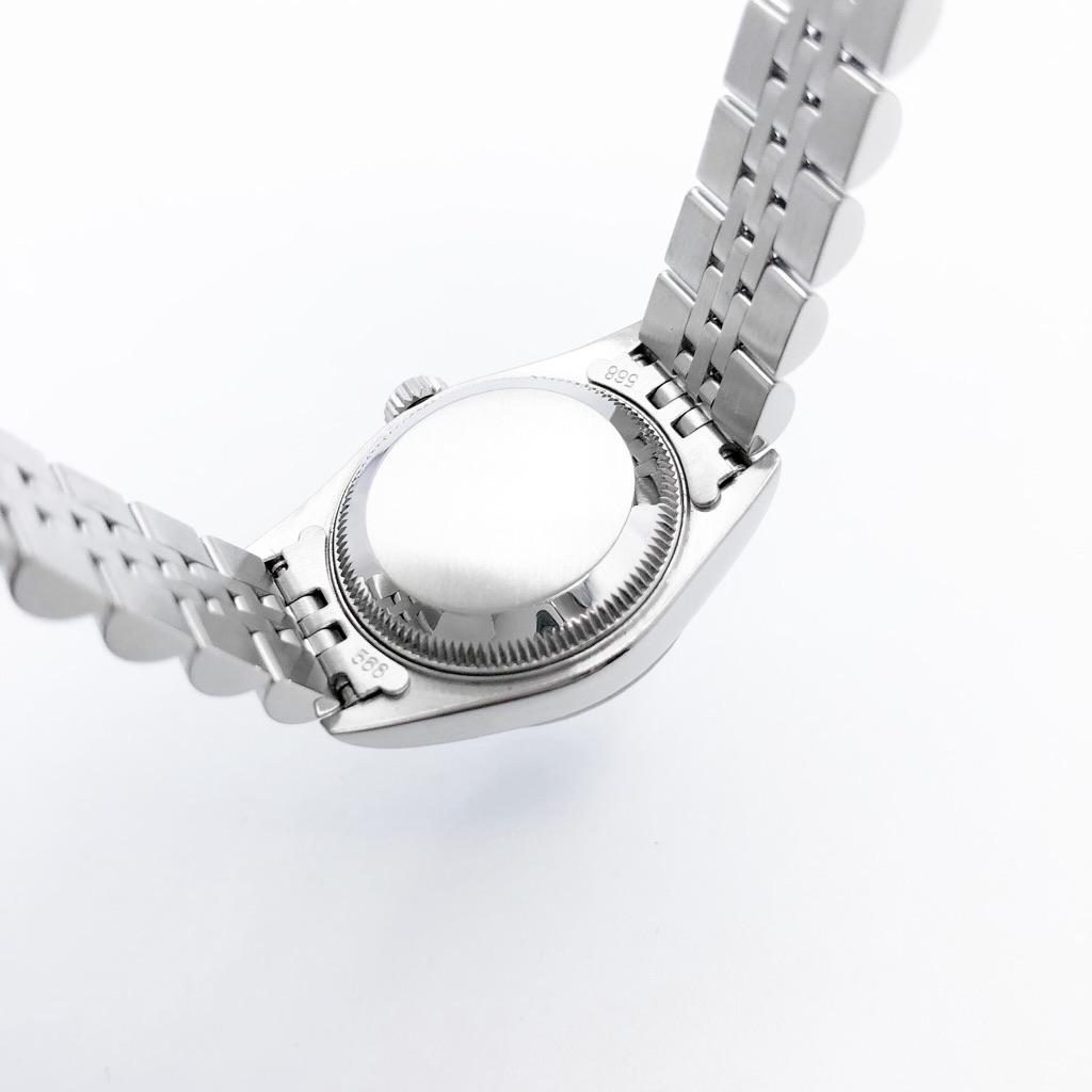 ROLEX / 10P 新ダイヤ 黒文字盤 シルバー