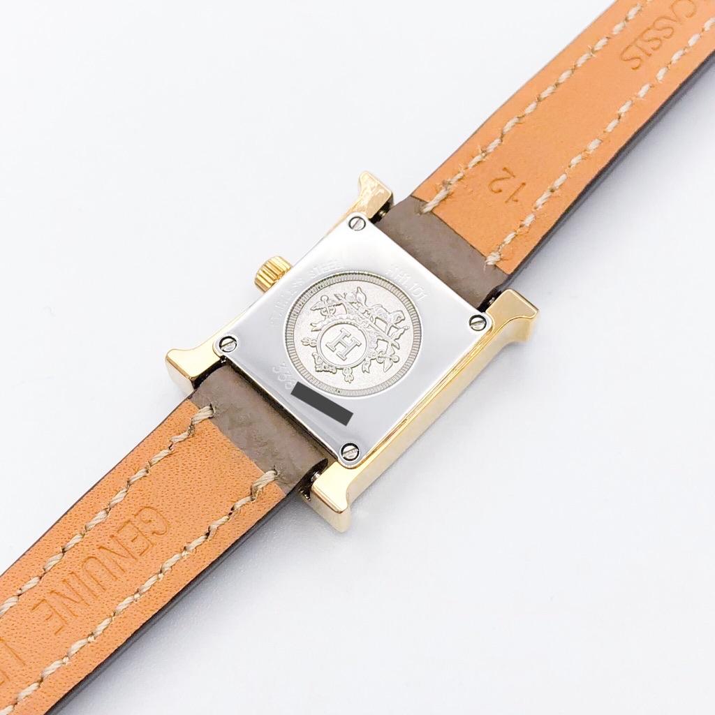 HERMES / Hウォッチ ミニ 現行モデル ゴールド ダイヤ