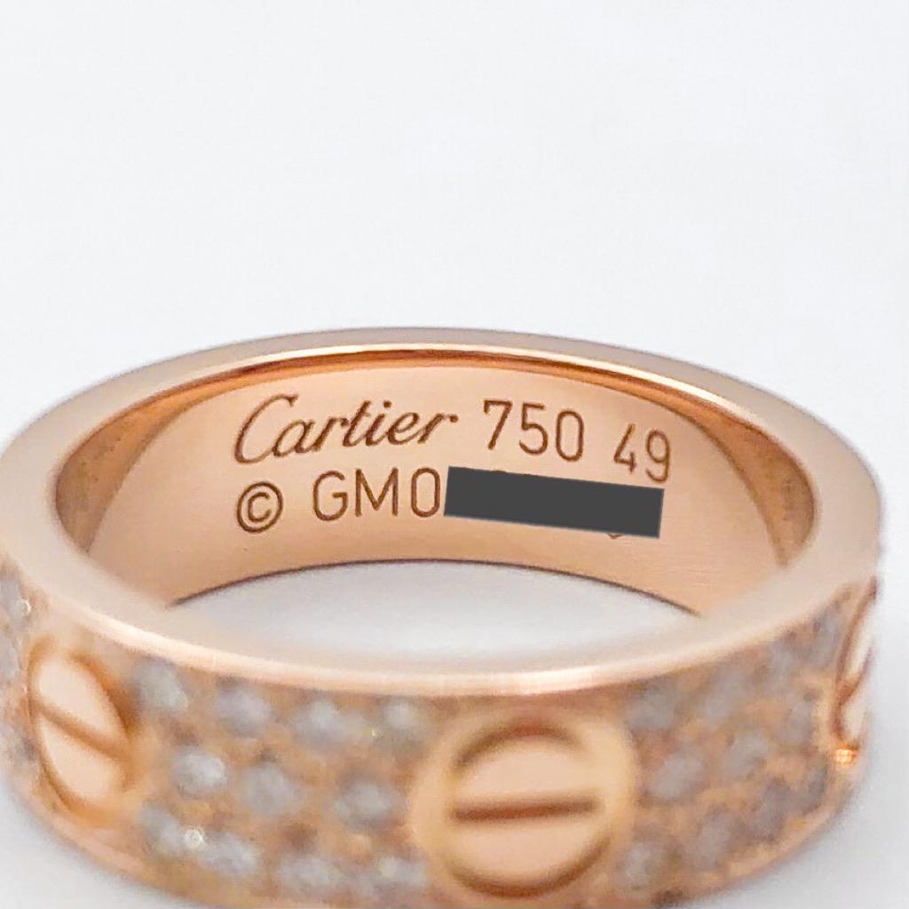 CARTIER / ラブリング 9号 PG ダイヤ