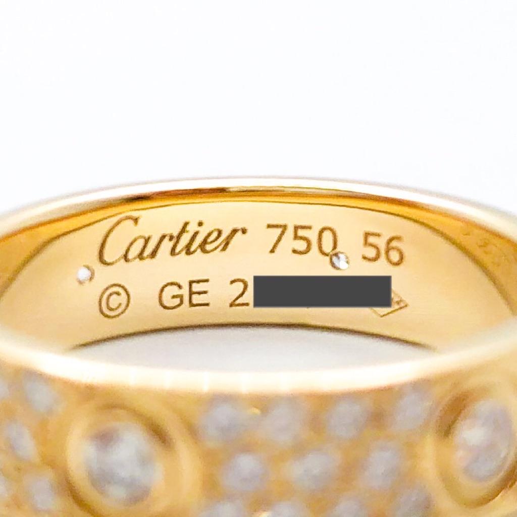 CARTIER / ラブリング 16号 YG フルパヴェ&6Pビス ダイヤ