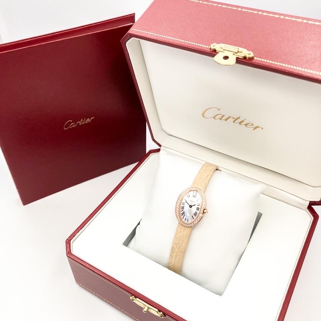 CARTIER / ミニベニュワール K18 PG ダイヤ