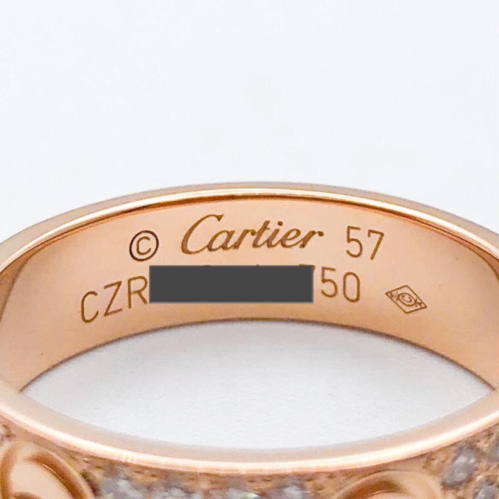 CARTIER / ラブリング 17号 PG ダイヤ
