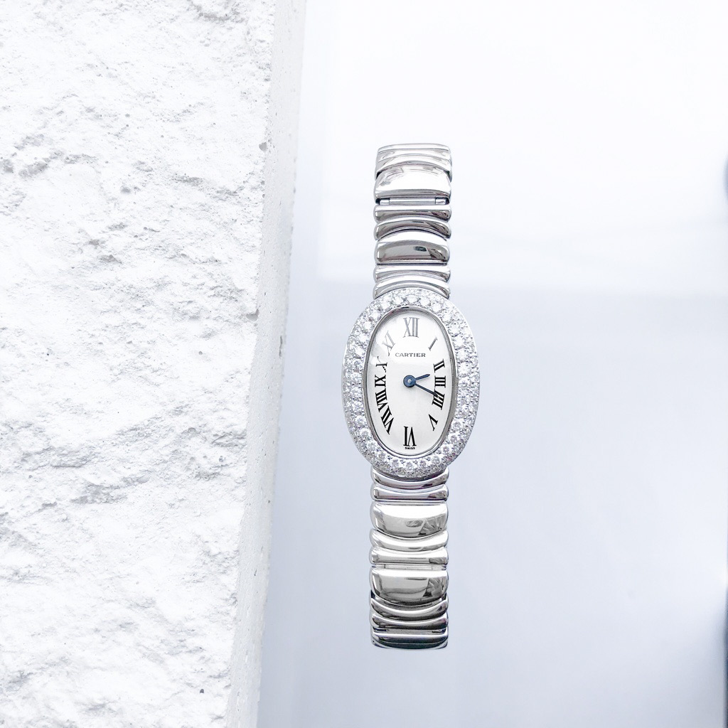 CARTIER / ミニベニュワール K18 WG ブレス ダイヤ
