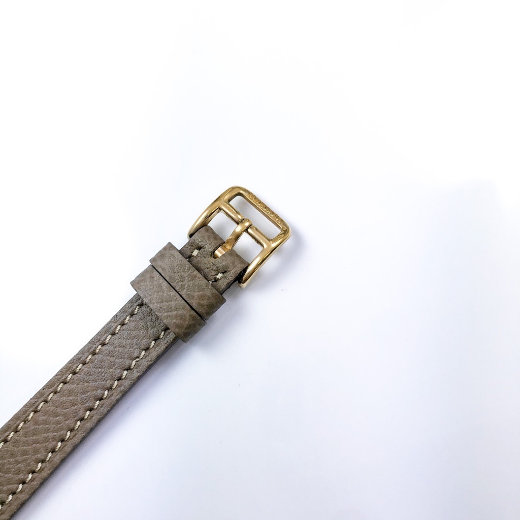 HERMES / Hウォッチ ミニ ゴールド ダイヤ