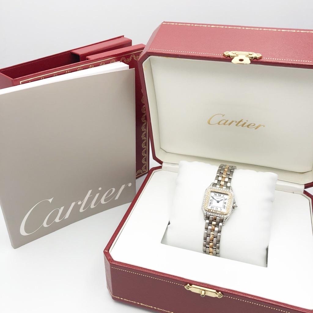 CARTIER / パンテール コンビ ダイヤ 1ロウ