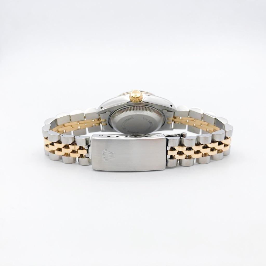 ROLEX / 10P ダイヤ シャンパン文字盤 コンビ
