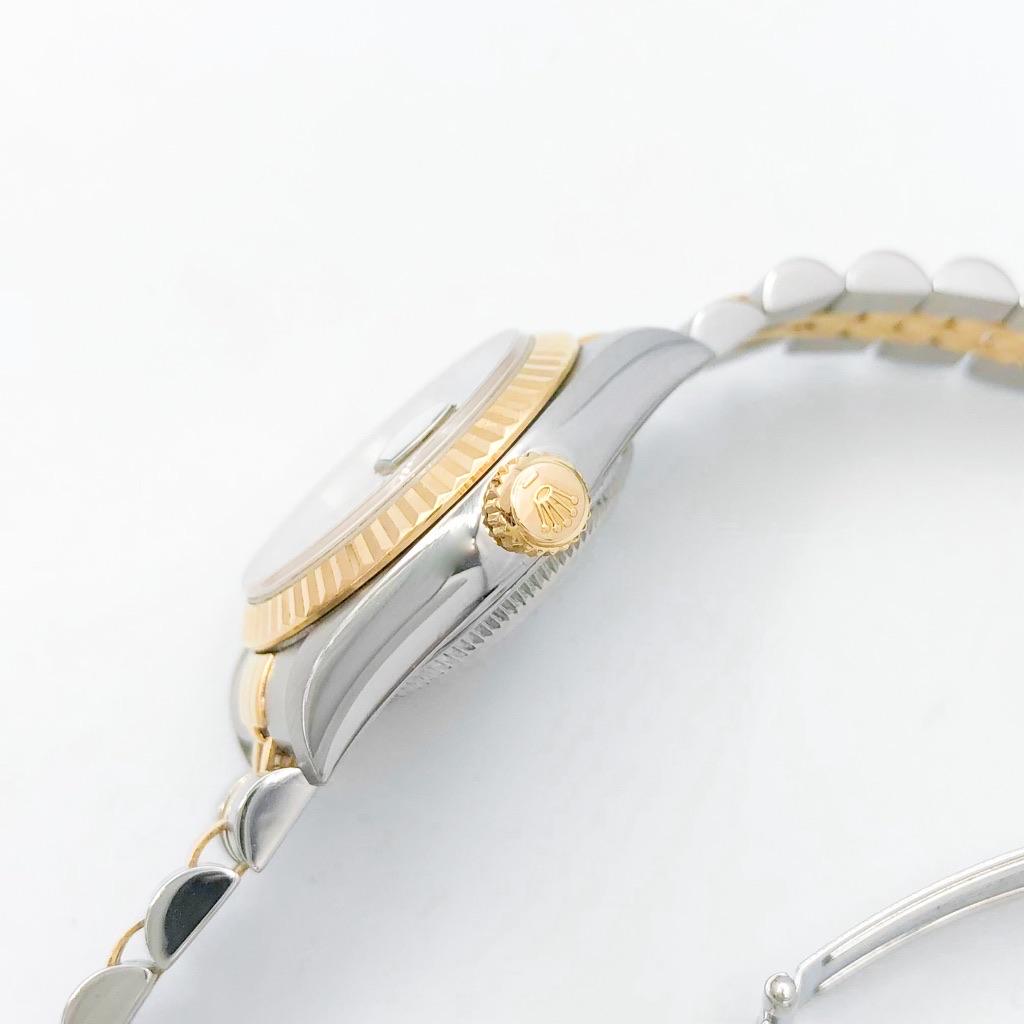 ROLEX / 10P 新ダイヤ 黒文字盤 コンビ