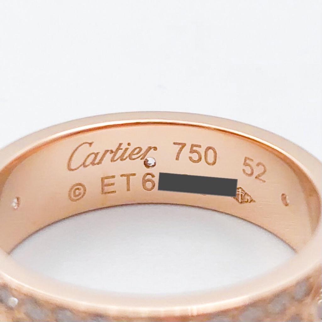 CARTIER / ラブリング 12号 PG フルパヴェ&6Pビス ダイヤ