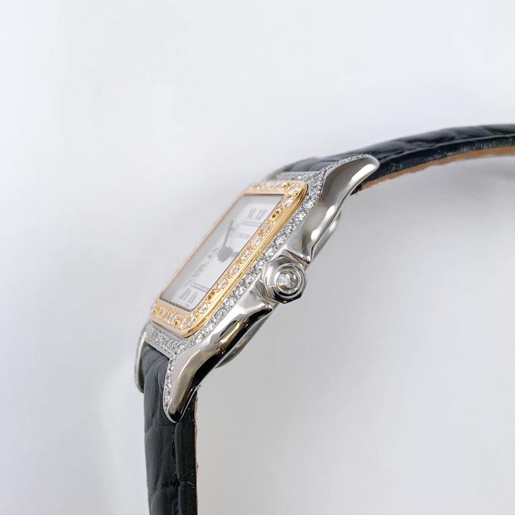 CARTIER / パンテール SM コンビ レザー ダイヤ