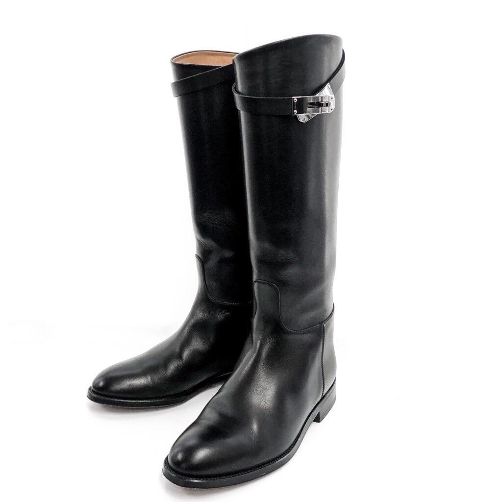 HERMES / ケリー ジャンピング ブーツ 35 1/2 ブラック