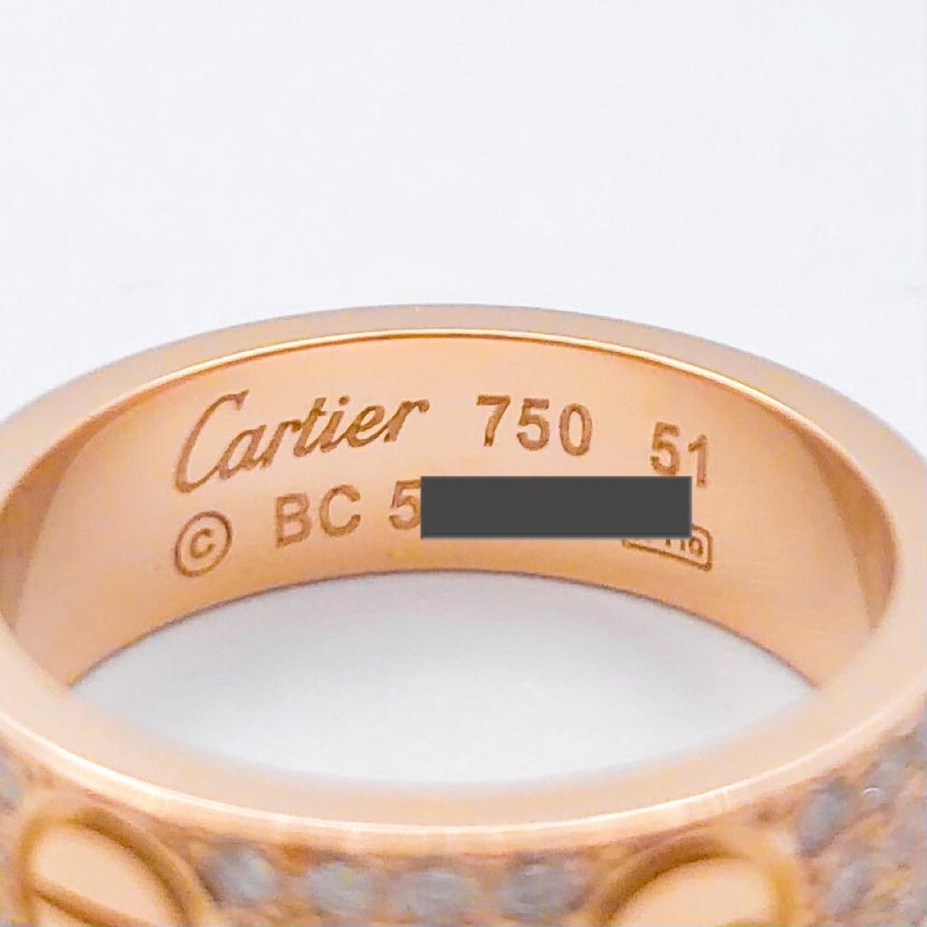 CARTIER / ラブリング 11号 PG ダイヤ