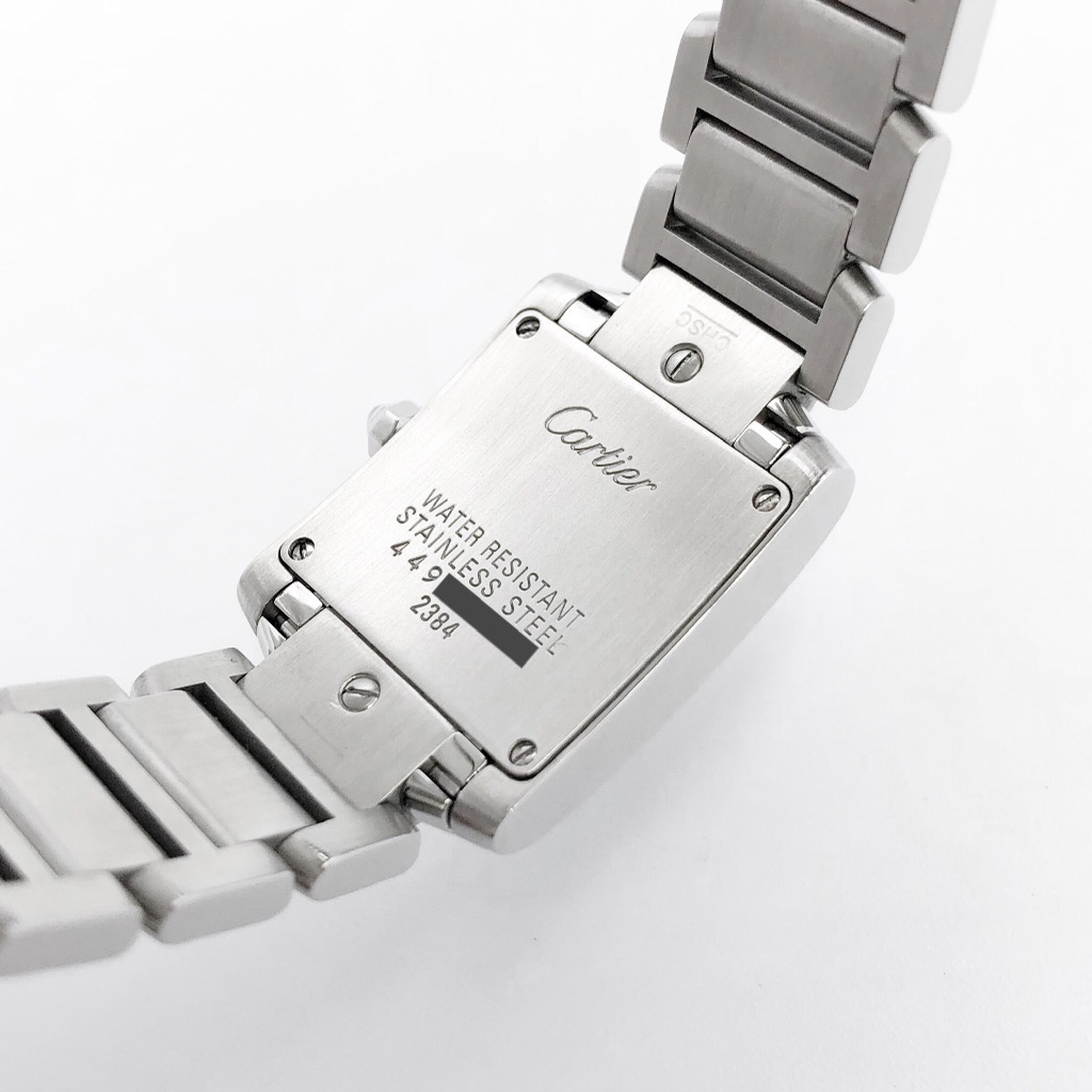 CARTIER /  タンク フランセーズ ピンクシェル文字盤 シルバー SM ダイヤ
