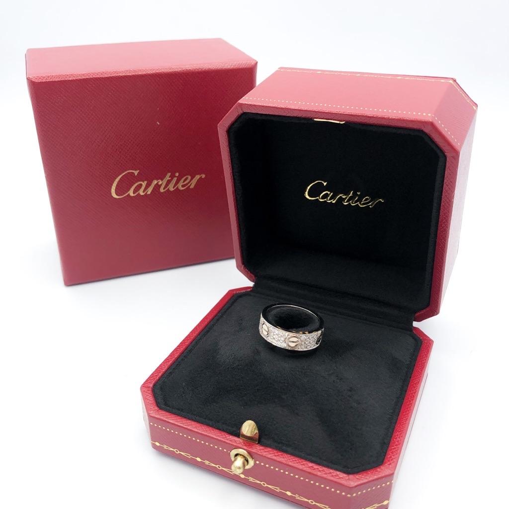 CARTIER / ラブリング 10号 WG ダイヤ