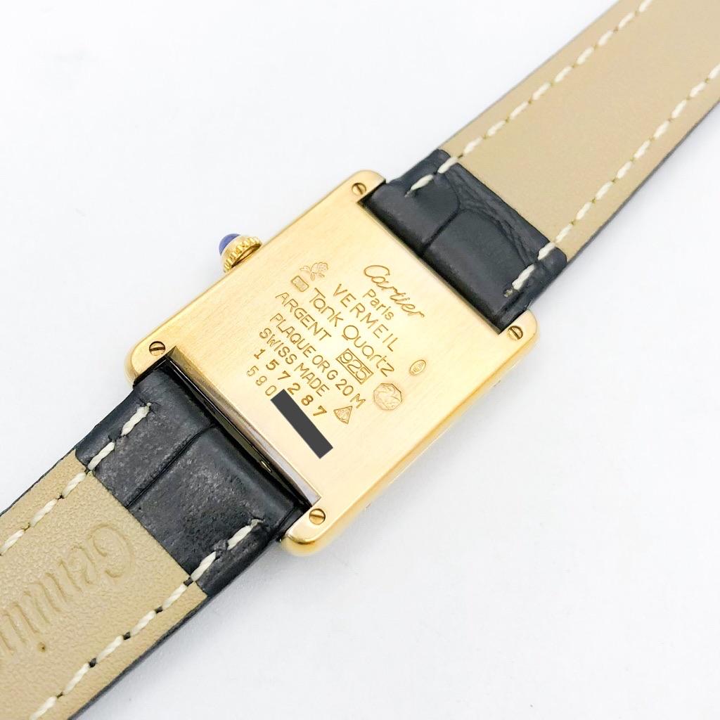 CARTIER / タンク 飛びアラビア文字盤 ゴールド