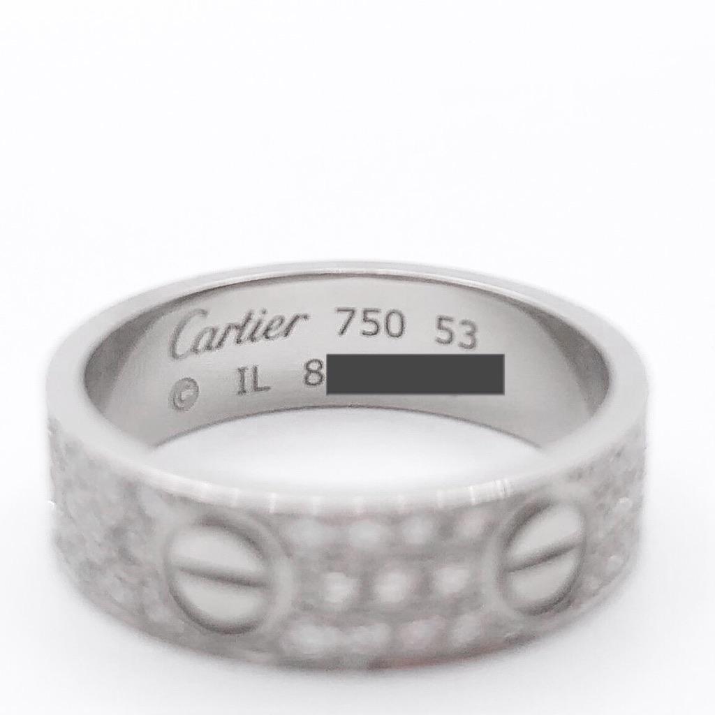 CARTIER / ラブリング 13号 WG ダイヤ
