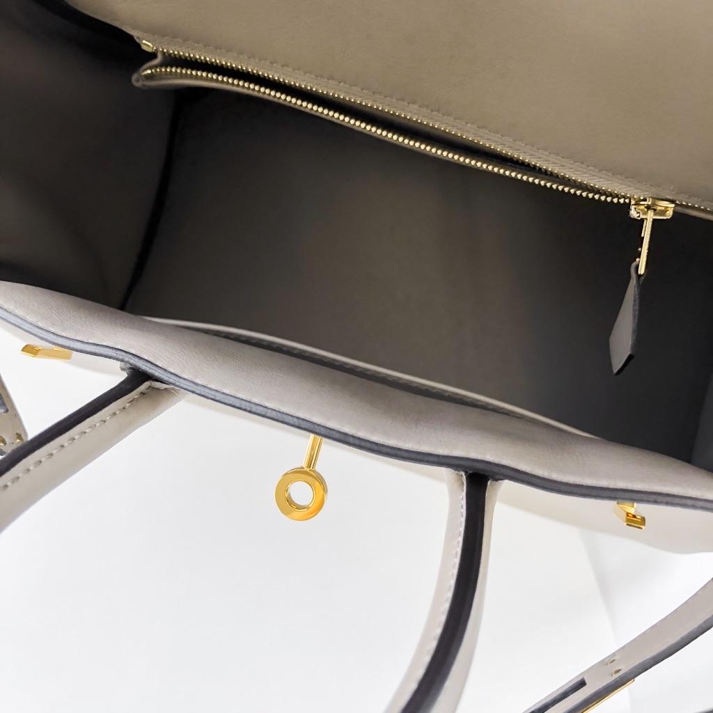 HERMES / バーキン25 グリアスファルト ゴールド金具