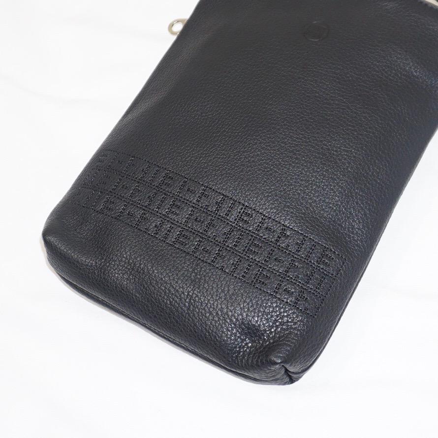 yorozu (ヨロズ) | キリハナ角字巾着25 (キリハナカクジキンチャク) - BLACK