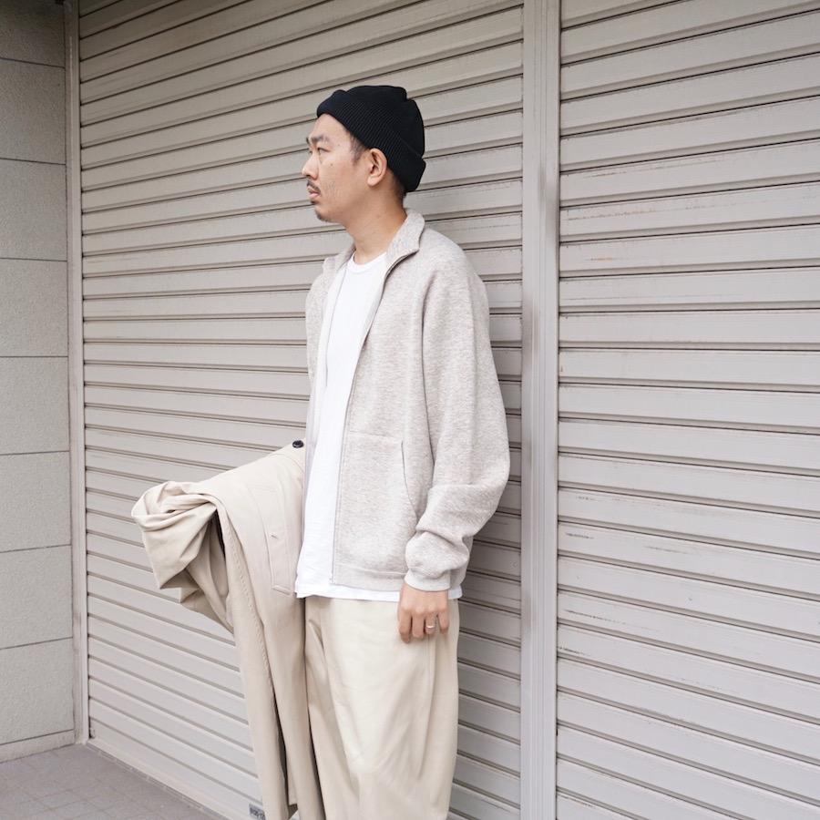 URU(ウル) | 20FCYW02/ ZIP UP SWEAT  (ジップアップスウェット) - BEIGE