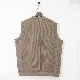 YASHIKI(ヤシキ) | Wakakusa Knit Vest(ワカクサニットベスト) - KHAKI BEIGE